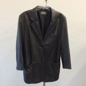 Bally Sz 12 leather blazer Black